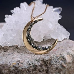 Coming Soon : Mineral Crescent Moon Necklace